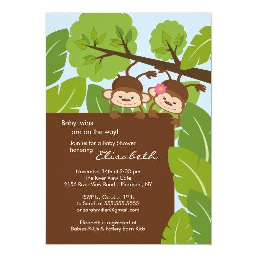Monkey Shower Invitations as amazing invitation ideas