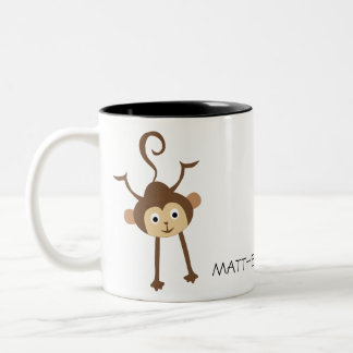 Monkey Two-Tone Coffee Mug