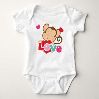 Monkey Valentine Love Bodysuit