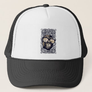 monkey vintage with glasess trucker hat