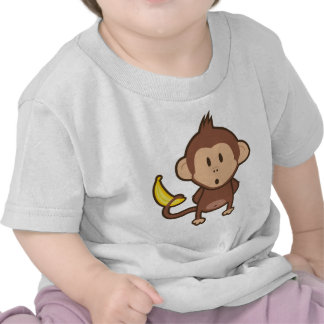 Monkey w Banana T Shirts