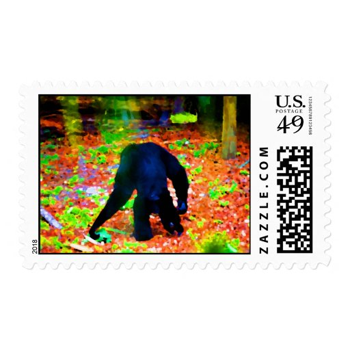 monkey walking away colorful blots.jpg stamps