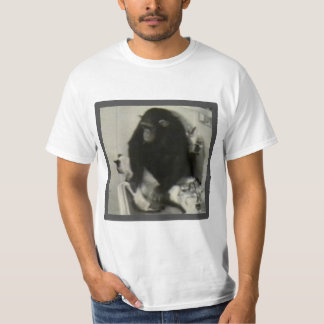 Monkey washing a cat T-Shirt