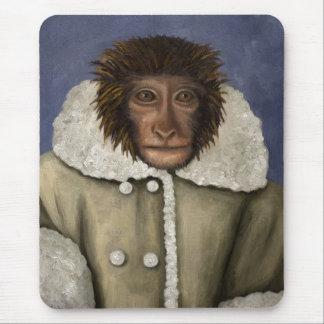 Monkey Wearing Jacket Mouse Pad