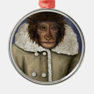 Monkey Wearing Jacket Christmas Ornament
