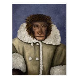 Monkey Wearing Jacket Postcard