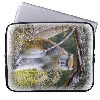 Monkey White Edge Computer Sleeve