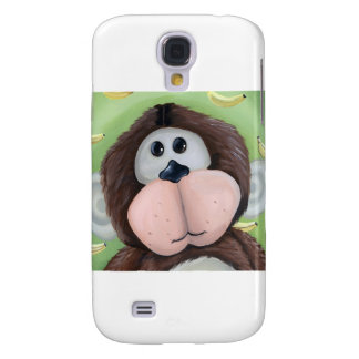 Monkey With Banana Background Galaxy S4 Cover