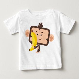 monkey with banana infant t-shirt