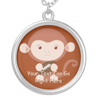 Monkey with Football Necklace