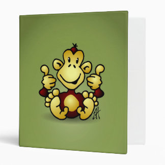 Monkey with four thumbs up binder
