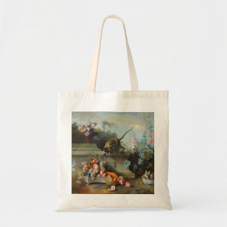 Monkey with Fruits Flowers - Monkey Year 2016 Tote Bag