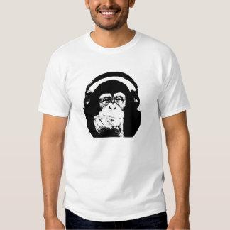 Monkey with Headphones Tee Shirt
