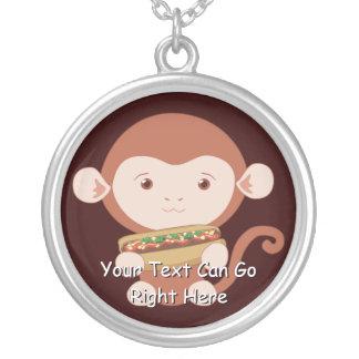 Monkey With Hotdog Necklace