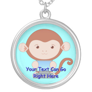 Monkey with Laptop Computer Necklace