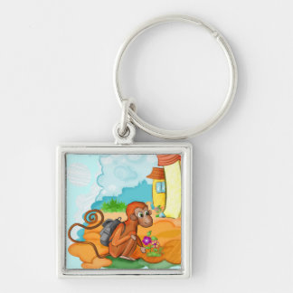 Monkey With Long Tail kids keychain