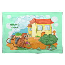 Monkey With Long Tail kids placemat