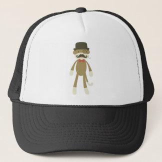 monkey with mustache & Tophat Trucker Hat