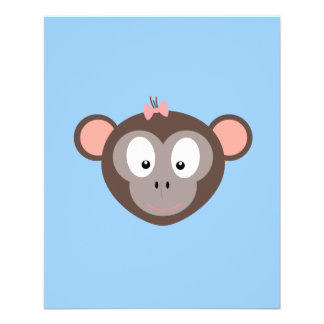 Monkey with pink ribbon flyer