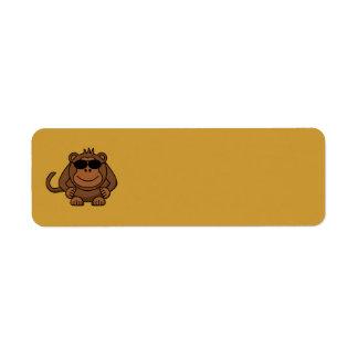 monkey-with-sunglasses return address label
