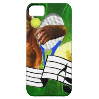 Monkey with tennis balls and racket iPhone SE/5/5s case