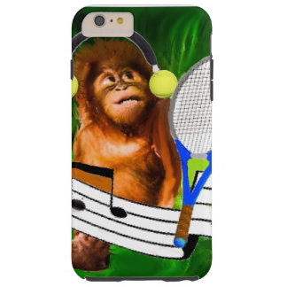 Monkey with tennis balls and racket tough iPhone 6 plus case