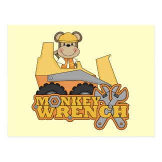 Monkey Wrench Bulldozer Tshirts and gifts Postcard