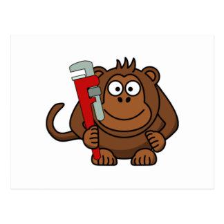 Monkey Wrench Cartoon Postcards