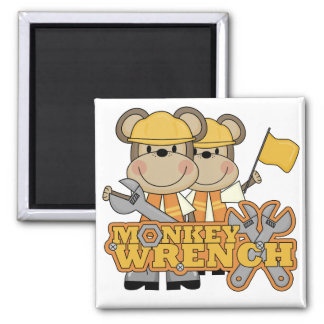 Monkey Wrench T-shirts and Gifts Magnets