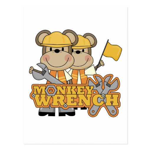 Monkey Wrench T-shirts and Gifts Post Card