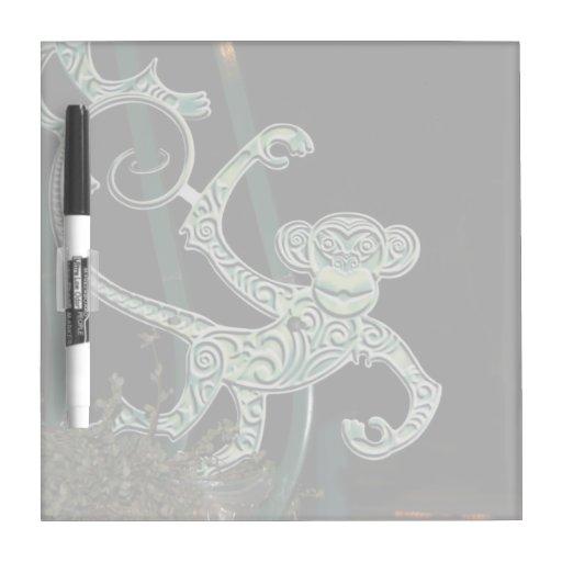 monkey wrought iron figure Dry-Erase whiteboard