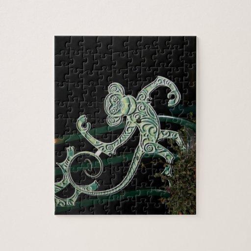 monkey wrought iron figure jigsaw puzzle