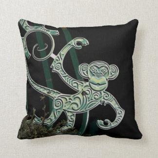 monkey wrought iron figure pillow