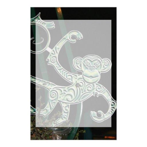 monkey wrought iron figure stationery