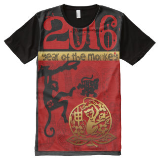 Monkey Year custom 2016 Chinese Zodiac All-Over-Print T-Shirt