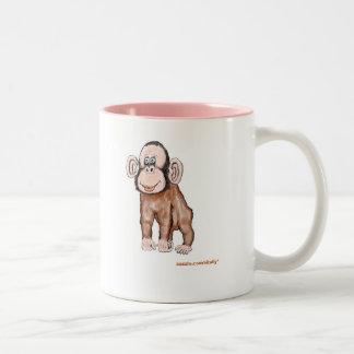 monkey, zazzle.com/vitaliy* Two-Tone coffee mug