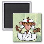 monkey zen fridge magnet