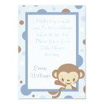 Monkey Zoo Baby Shower Invitation-Blue