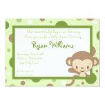 Monkey Zoo Baby Shower Invitation-Boy
