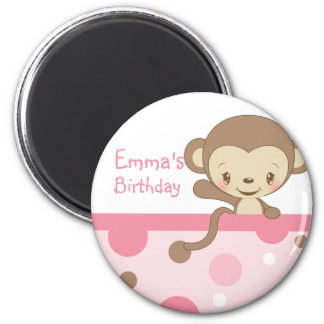 Monkey Zoo Birthday Party Favor Magnet