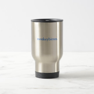 monkeybitten. stainless travel mug. 15 oz stainless steel travel mug