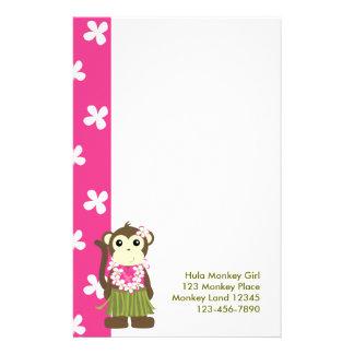 monkeyflowers2, girlmonkeytrop, mono Gir de Hula… Papelería