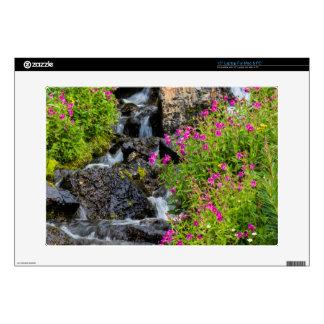 """Monkeyflowers Along Lunch Creek In Glacier 15"""" Laptop Decal"""