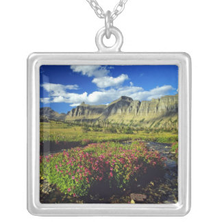 Monkeyflowers at Logan Pass in Glacier National Silver Plated Necklace