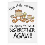 monkeying around again greeting cards