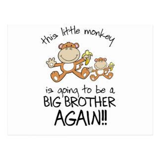 monkeying around again postcard