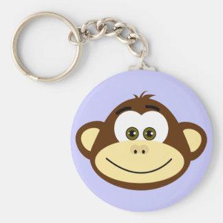 Monkeying Around Basic Round Button Keychain