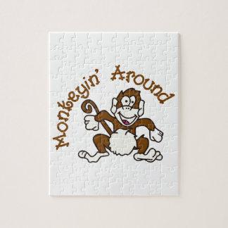 Monkeying Around Jigsaw Puzzles