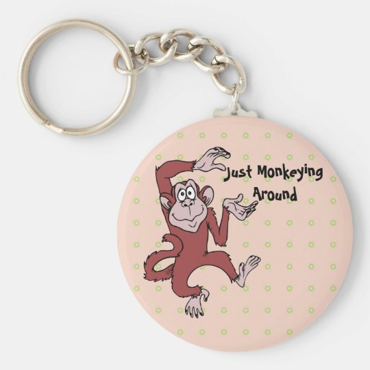 Monkeying Around Keychain