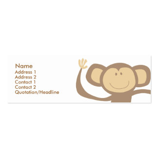 Monkeying Around Skinny Profile Cards Double-Sided Mini Business Cards (Pack Of 20)
